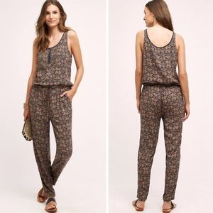 ANTHROPOLOGIE • TINY • chione motif jumpsuit